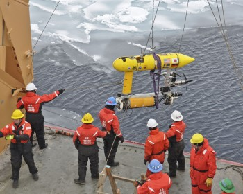 Deploying Unmanned Undersea Vessel