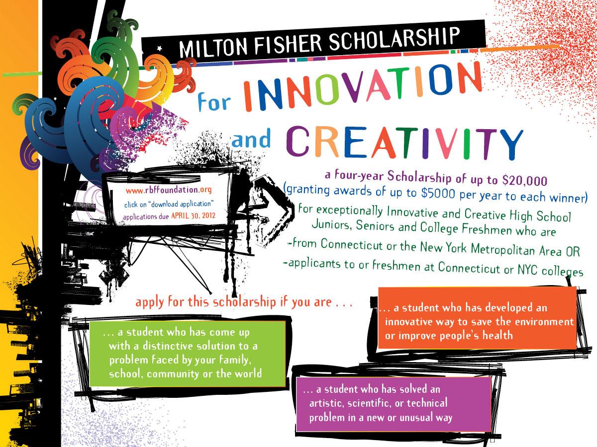 $ 500 + Milton Fisher Scholarship per l'innovazione e la creatività