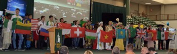 Presentation of Participants' Country Flags at the Opening Ceremony - Martha Haddad